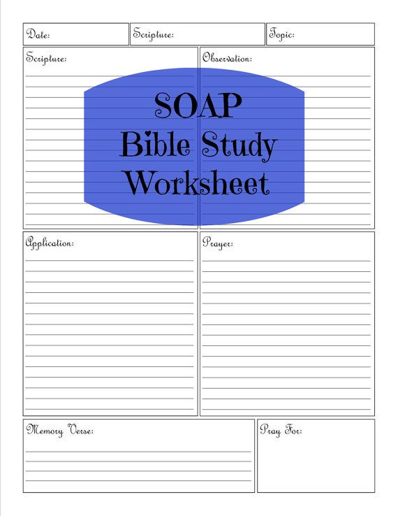 SOAP Bible Study Worksheet by KingdomHomemakers on Etsy