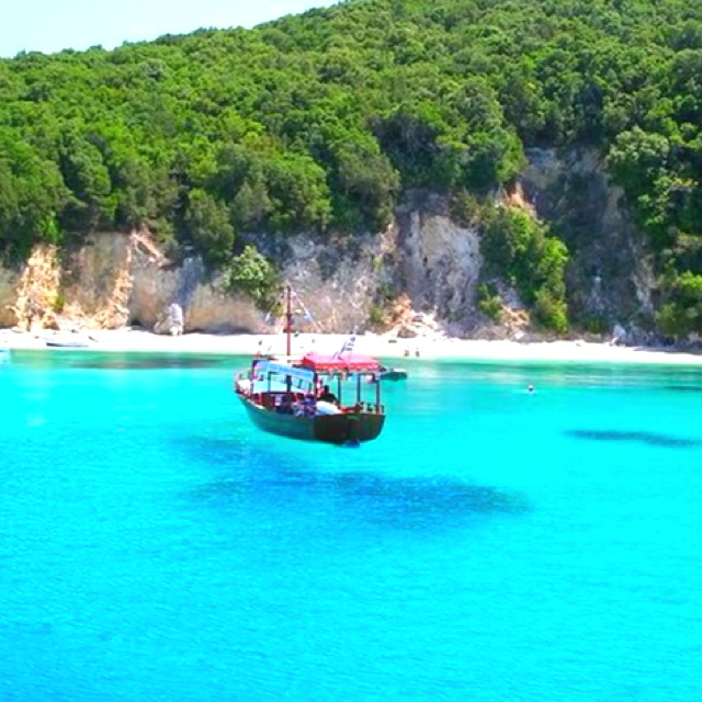 Sivota, Greece. Had a lovely day cruise here from Corfu stopping off to swim in the beautiful blue lagoons. Happy day!