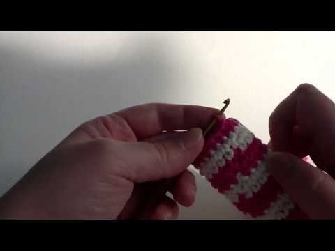 Video tutorial for Jogless Stripes in Crochet when working in rounds