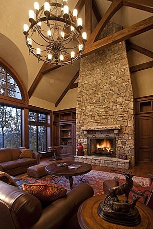 floor to ceiling fireplace. [from zillowdigs]