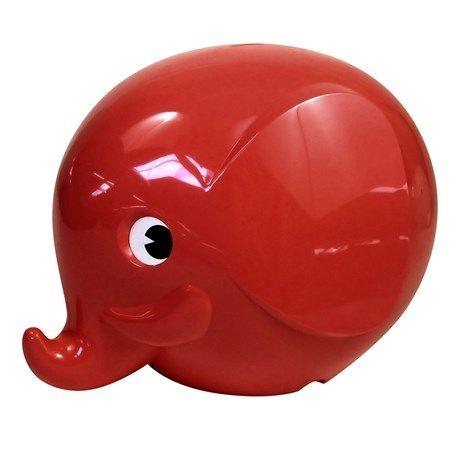 Norsu - Elefantsparbössa, stor, Röd