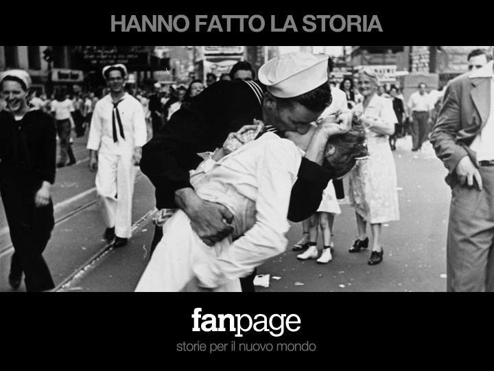14 agosto 1945: alla notizia della fine della guerra, tra i festeggiamenti in Times Square il giorno della vittoria americana contro il Giappone, un giovane marinaio preso dall'euforia inizia a baciare tutte le donne presenti.    Questo scatto del fotografo Alfred Eisenstaedt, è una delle foto più diffuse al mondo, una di quelle che ha fatto la storia!!
