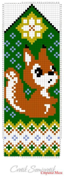 Squirrel cross stitch.