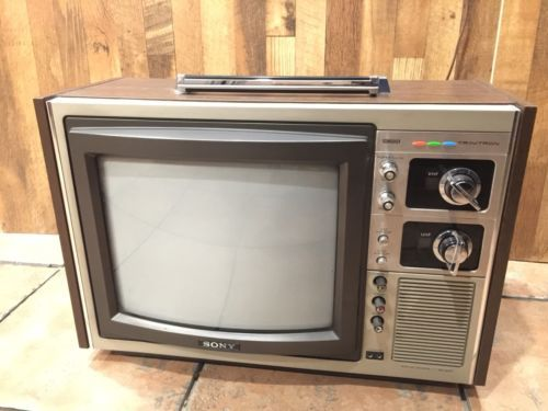 Sony-Trinitron-Vintage-12-034-Color-Television-Model-KV-1215-Econoquick-Made-Japan