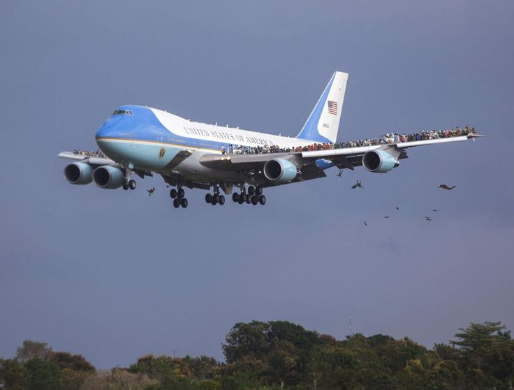 Hundreds Of Cuban Refugees Clinging To Air Force One On Flight Back To U.S.
