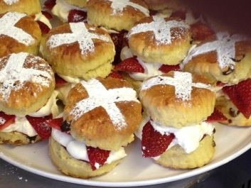 St George's Day Filled Scones