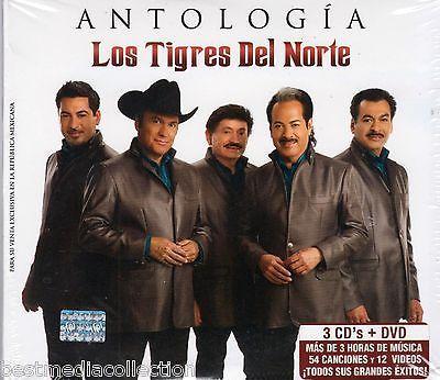 3 CD / 1 DVD COMBO Antologia Los Tigres Del Norte 54 Canciones Y Mas BRAND NEW