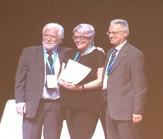 Well done Denis, from all at SUDEP Action. Denis Chapman, Epilepsy Australia and one of the SUDEP Global Conversation Editors, received an Ambassador for Epilepsy Award at the 31st International Epilepsy Congress in Istanbul. The photo is of Denise receiving her award from IBE President Thanos Covanis and ILAE President Emilio Perucca.