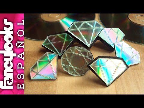 Haz diamantes con tus CDs usados-Me gusta reciclar - YouTube