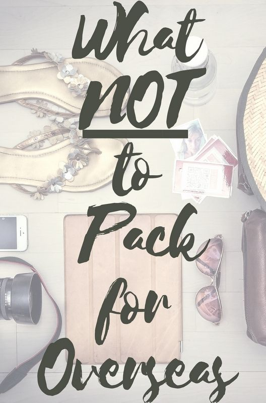 There's no greater burden to a traveler than having too much luggage. So click through to read the post for 10 items that you'll never need.