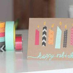 La plus jolie carte d'anniversaire en 52 variantes + vidéo!