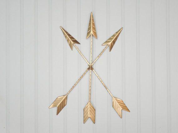 Flèche or Wall Decor suspendu / Bohème / flèche / Tribal / indien / sud-ouest / flèche Art amérindien tendance / / or / Wall Decor / Chambre des