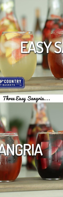 Three Easy Sangria Recipes... Tags: