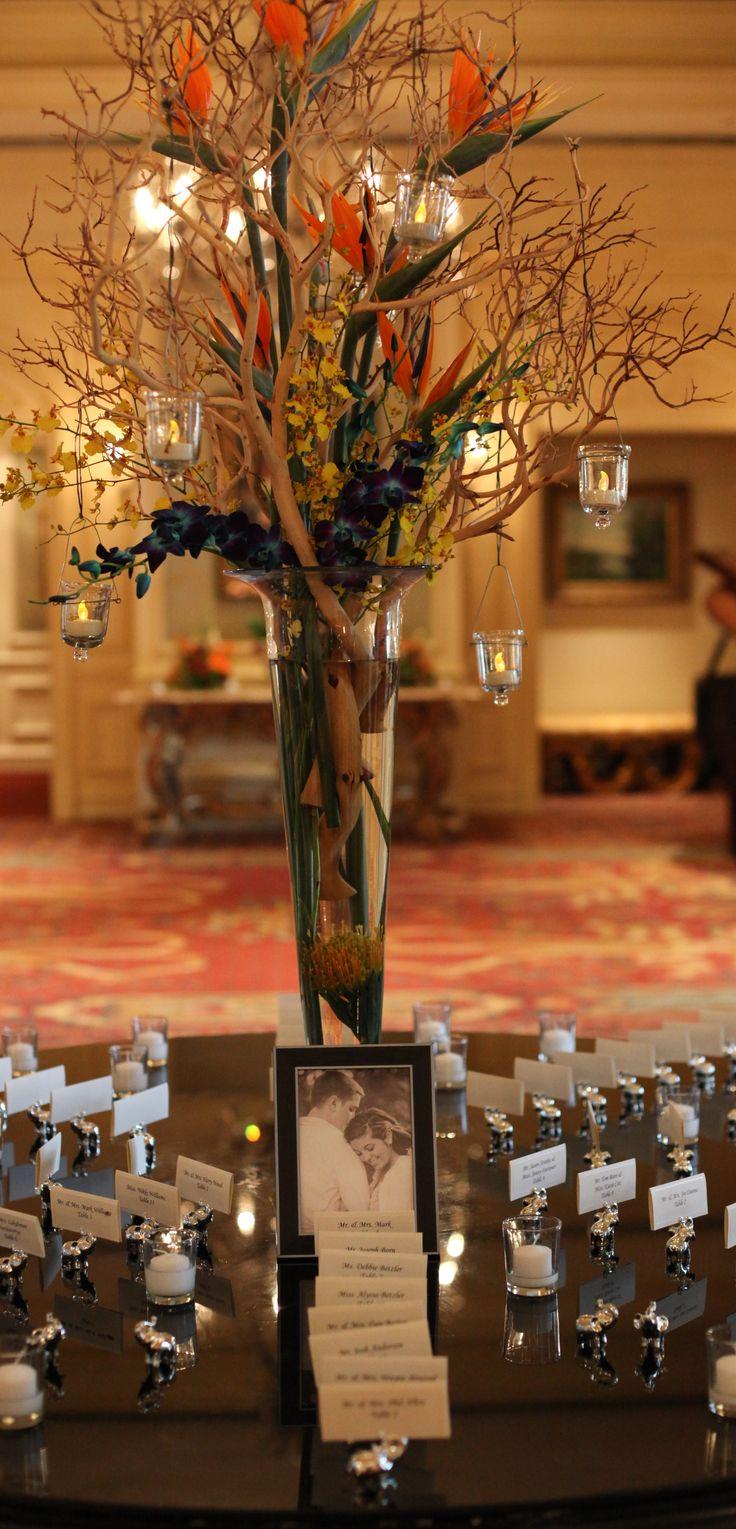 seating cards tropical wedding elephants bird of paradise sarasota ritz carlton