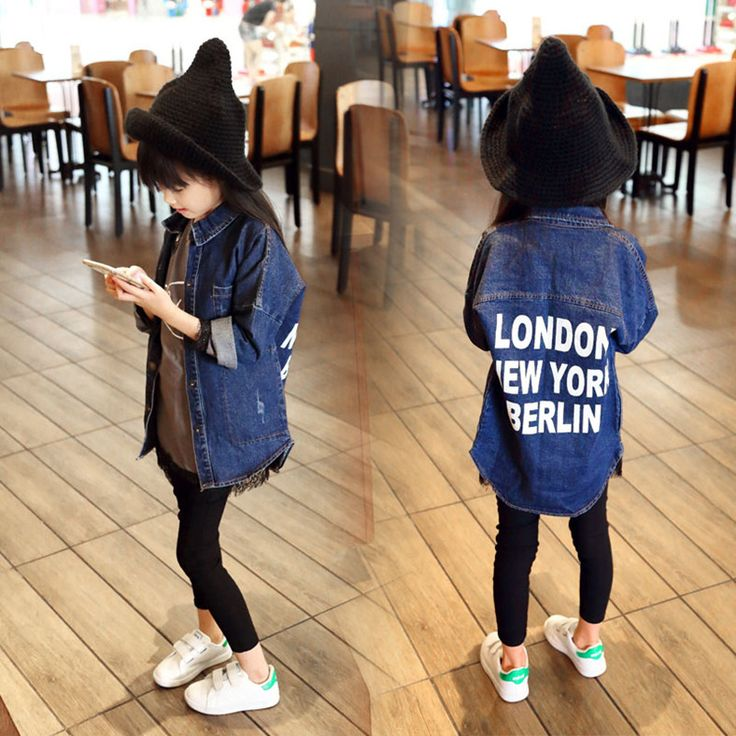 >> Click to Buy << New 2016 Autumn Girls Jeans Coat Kids Denim Jacket Baby Fashion Letters Coat Children Coat Toddler Casual Jacket, 2-7Y #Affiliate