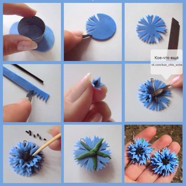 DIY Tutorial FIMO Polymer clay - flower                                                                                                                                                                                 More