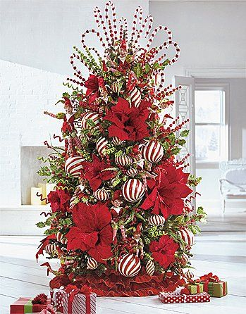 25 best ideas about red christmas decorations on for Red and white christmas tree theme
