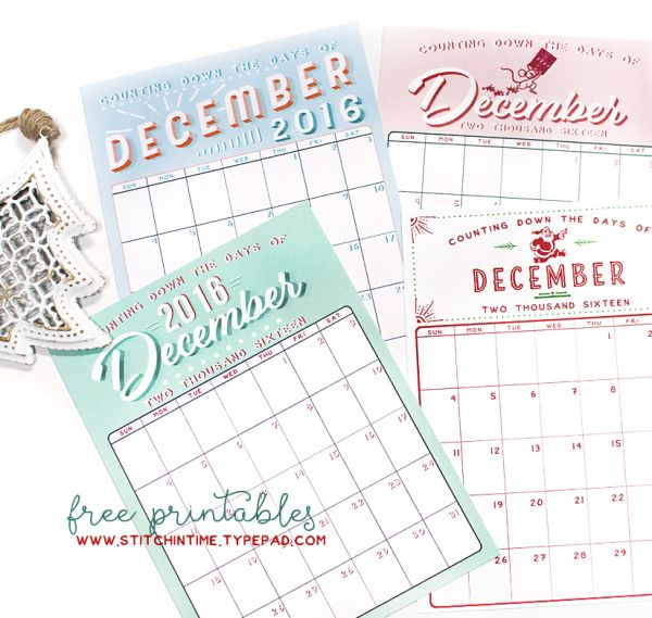 Cute December calendars!