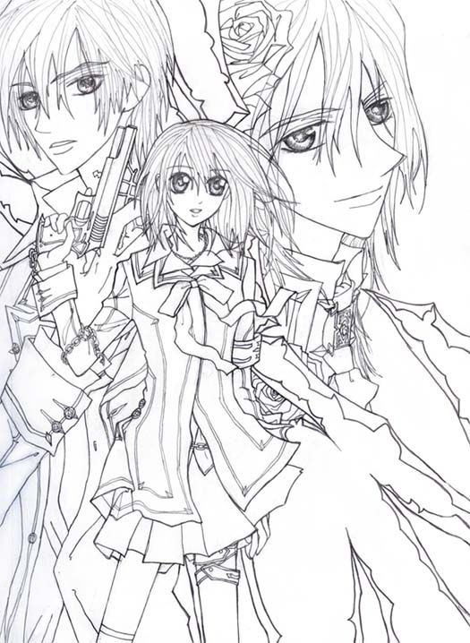 Vampire Knight Lineart By Sheenabon Vampires Pinterest