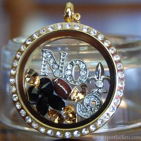 New Orleans Saints football locket necklace – SportLockets.com