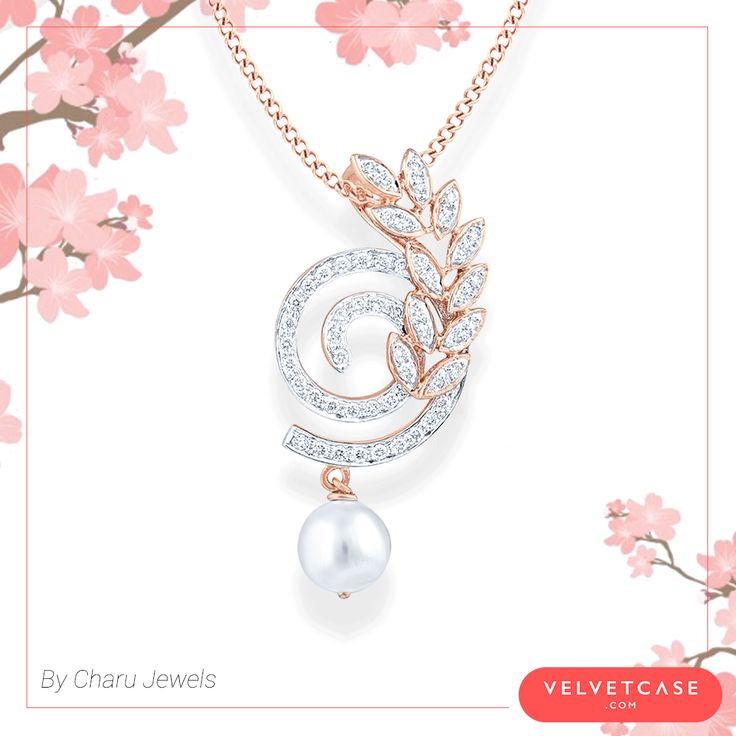 Wind and Feather Diamond Pendant from Charu Jewels is a must-have piece for your closet. Try it now! #jewellery #diamondjewellery #trendy