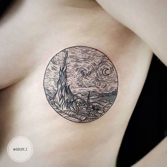 14+ Classical Art-Inspired Tattoos You Never Knew You Needed Until Now | Bored Panda
