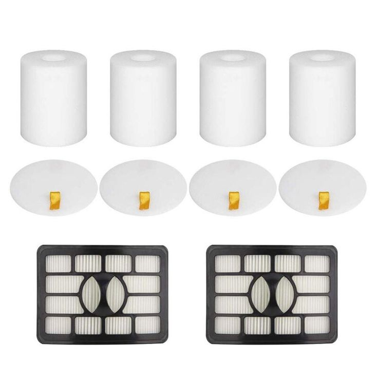 2 hepa filters and 4 foam flet filter replacement parts