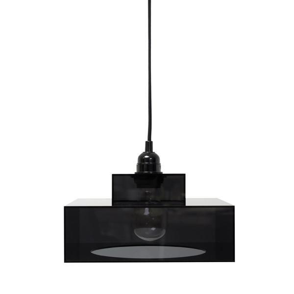 Fabulous g nstige h ngelampe schwarz f r wohnzimmer esstisch oder arbeitsraum aus schwarzem plexiglas