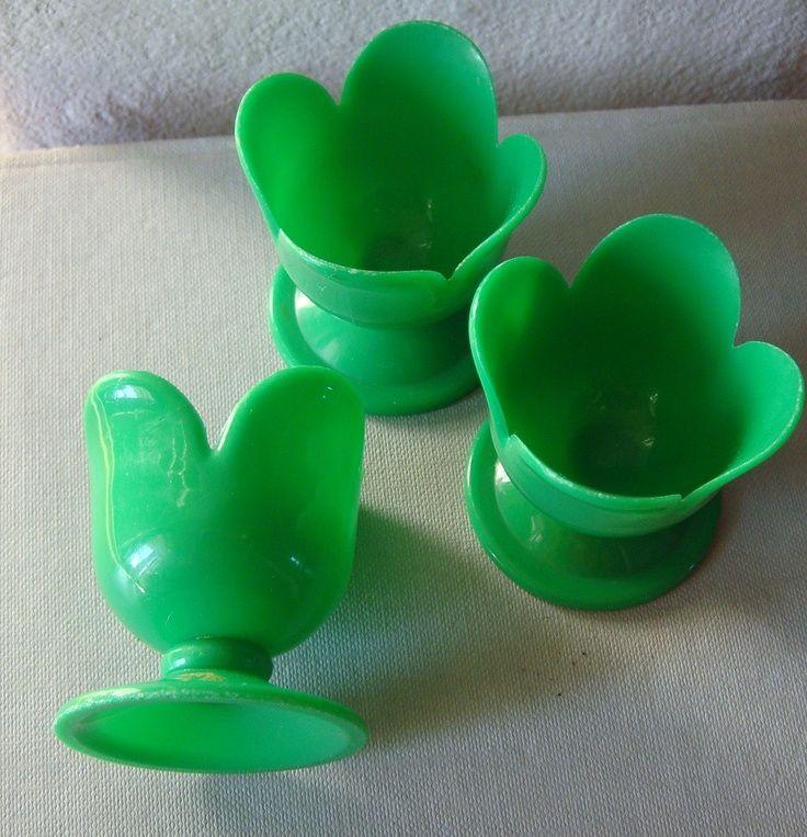 Vintage Scandinavian Plastic egg cups