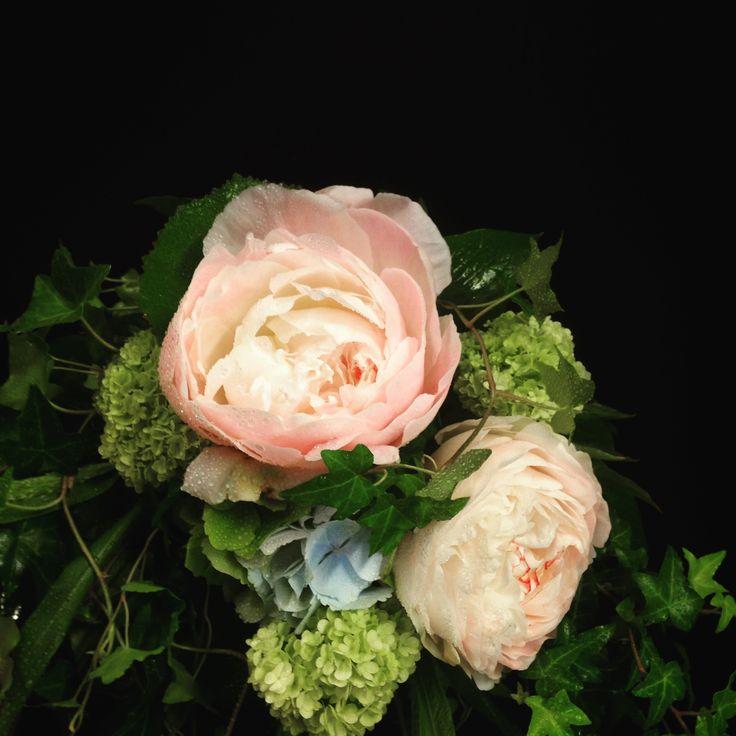 Bouquet with Peony, Viburnum, Hydrangea..