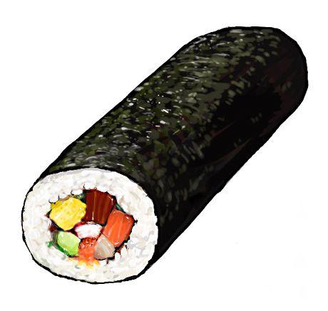 食:恵方巻き