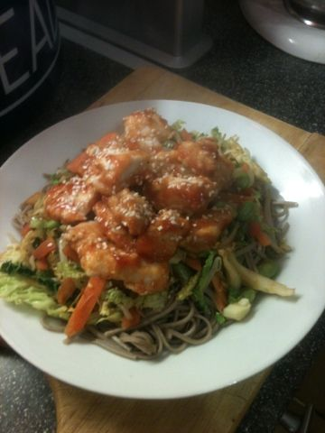 Vicki-Kitchen: Sticky sesame chicken OMG delicious (slimming world friendly)