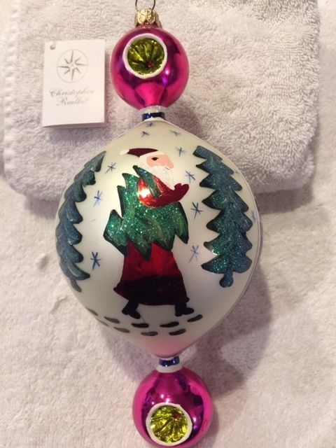 "CHRISTOPHER RADKO, RARE & RETIRED,1999, ""BLUE LUCY"" SANTA NORDIC FOREST WOODS  