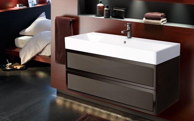 #marron #brown #salledebain #bathroom #Elysée #Decotec #meubles #meublessalledebain