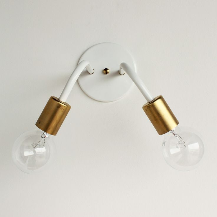 Image of Two-head wall sconce