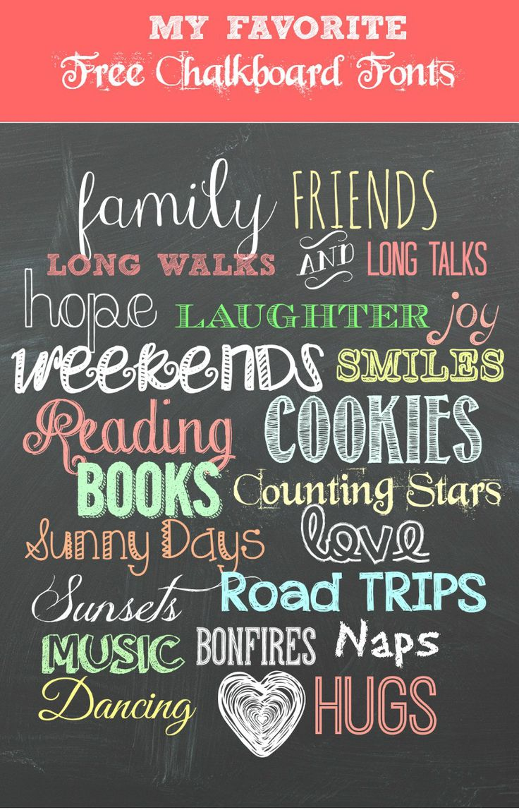 Free chalkboard fonts plus a free printable!