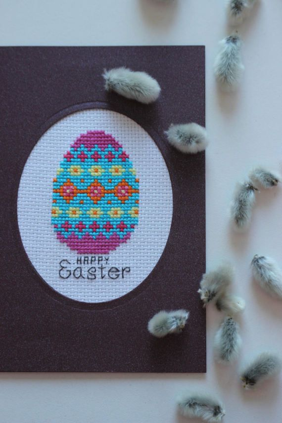 HAPPY Easter card, easter Egg, easter gifts, handmade Card, paper & party supplies, Spring time, greeting card, easter decoraion