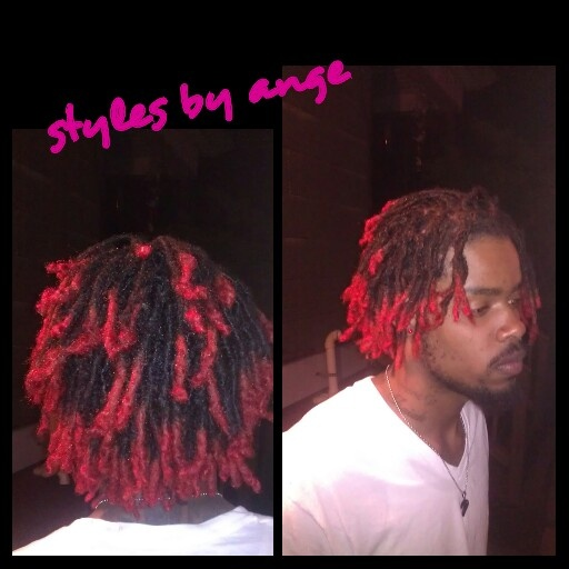 Freshly Colored Red Tips And Retwisted Dreads I Love