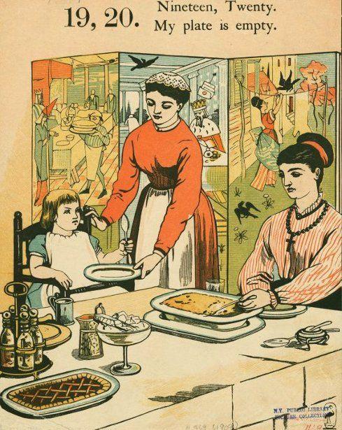 Nineteen, Twenty, My Plate Is Plenty by Walter Crane (1845-1915, English)