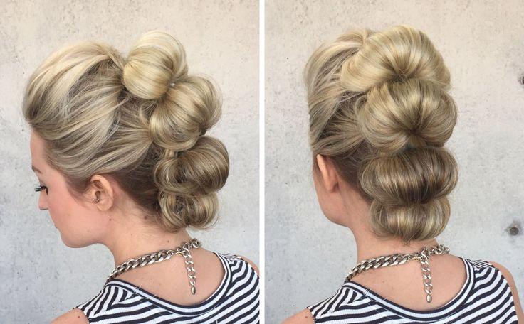 Topsy Tail Loop Faux Hawk hair tutorial