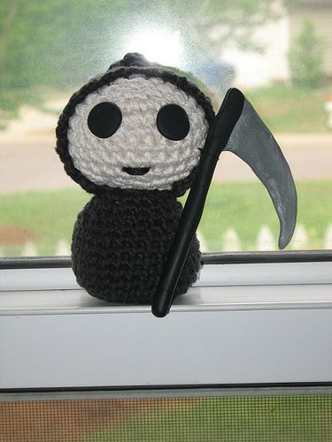 Terry Pratchett would be proud!: Libraries, Patterns, Baby Stuff Must, Crochety Crochet, Crochet Amigurumi, Grim Reaper, Reaper Pattern, Cracking Crochet, Crochet Grim