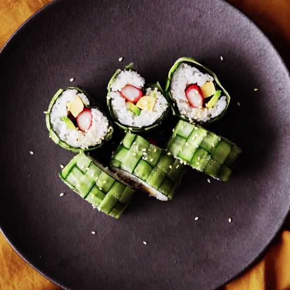 This beautiful sushi roll is easier to make than you'd think! A dish that's sure to impress your guest at your next gathering, they won't believe you made it yourself!