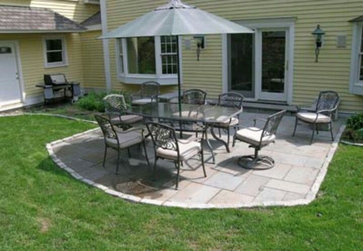 Small stone patio. | For the Home | Pinterest on Small Backyard Stone Patio Ideas id=82808