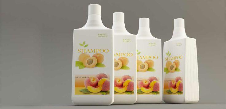 Modelo en 3d envase producto SHAMPOO