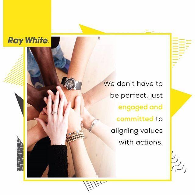☀Good Morning my dear friends! ☀😊 Sari's quote of the day!  We don't have to be perfect, just engaged and committed to aligning values with actions.  Kita tidak harus sempurna, hanya melakukan dan berkomitmen untuk menyelaraskan nilai dengan tindakan.  Have a fantastic & blessed Friday friends 😊 . . . . #raywhite #raywhiteindonesia #raywhitecbdsurabaya #surabaya #jawatimur #indonesia #qotd #quoteoftheday #motivation #topproperti #topagent #realtorlife #realestate #agentrealestate…
