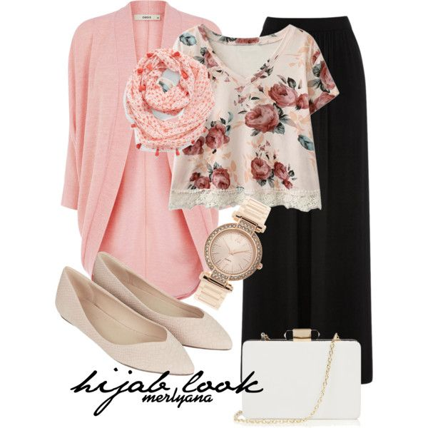 Hijab Look 013 by merlyana-dwi-hapsari on Polyvore featuring Oasis, Topshop, Echo and hijab