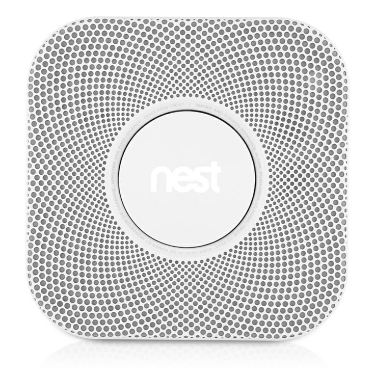 Nest Protect: Smoke + Carbon Monoxide Alarm (Battery Powered).  I want one! Connect to my Nest Thermostat.
