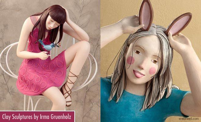 20 Beautiful and Realistic Clay Sculptures by Irma Gruenholz http://webneel.com/clay-sculptures-irma | Design Inspiration http://webneel.com | Follow us www.pinterest.com/webneel