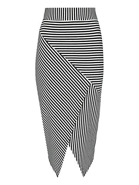 Jane Norman Cut About Stripe Skirt - $33