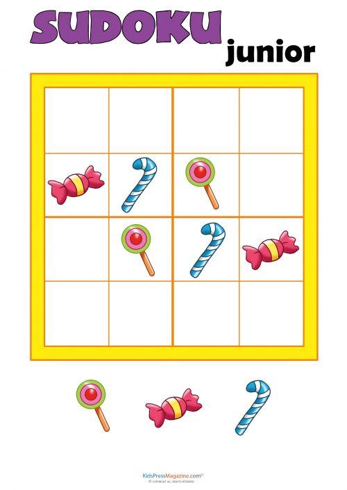 Sudoku for Kids – Candy   #Sudoku #4x4 #kids #version #games #critical #thinking